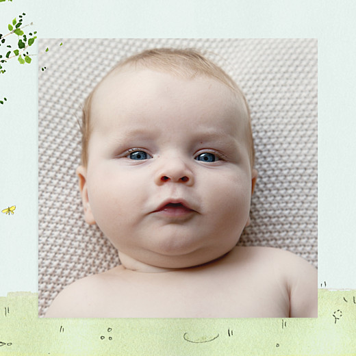 Faire-part de naissance Nous irons au bois (triptyque) bleu ciel - Page 2