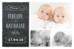 Faire-part de naissance Ardoise jumeaux noir - Page 1