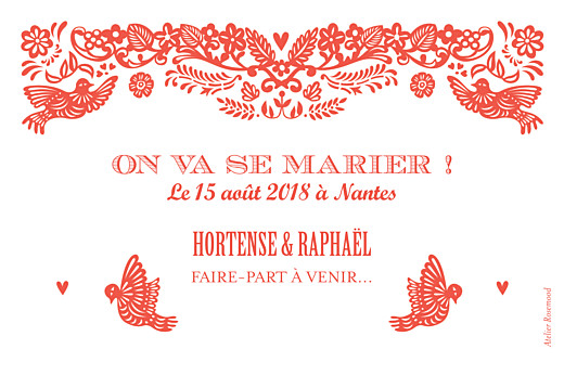 Save the Date Papel picado corail - Page 2