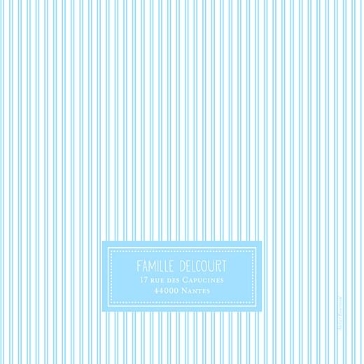 Faire-part de naissance Petites rayures photo bleu