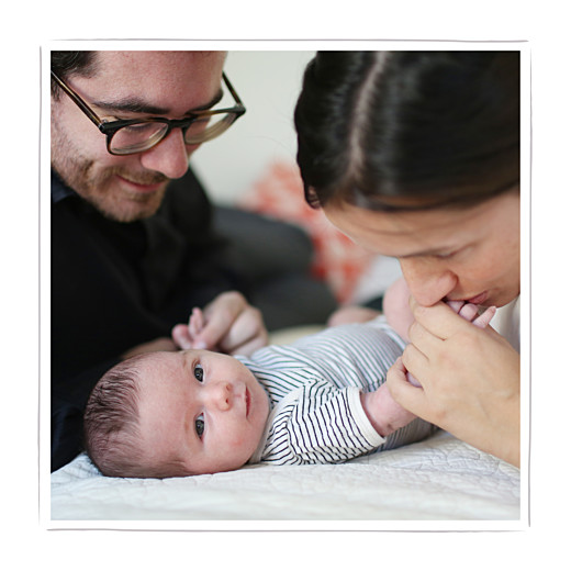 Faire-part de naissance Ma perle 3 photos blanc