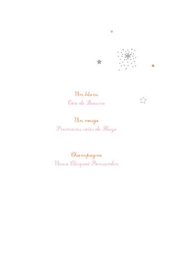 Menu de baptême Étoiles rose - Page 2