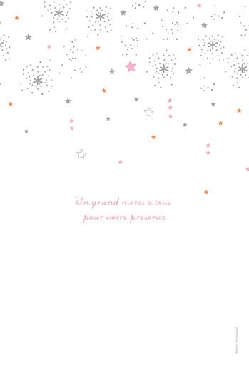 Menu de baptême Étoiles rose - Page 4