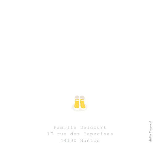 Carte de remerciement Merci balade (carré) beige jaune - Page 2