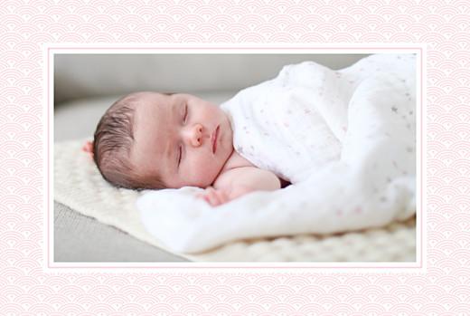 Faire-part de naissance Pattern fantaisie photos rose