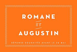 Carton d'invitation mariage La déclaration orange