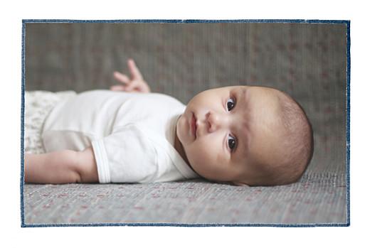 Faire-part de naissance Mon petit lapin 2 photos bleu nuit - Page 2