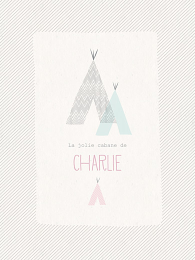 Affiche Tipis beige rose - Page 1