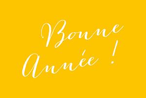 Carte de voeux Cette année ! 5 photos jaune