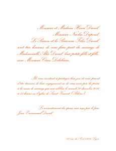 Faire-part de mariage Traditionnel (grand format) blanc