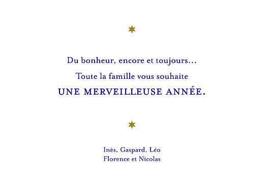 Carte de voeux Rennes de noël bleu & doré - Page 3