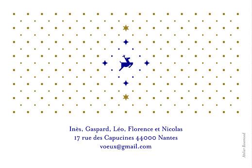 Carte de voeux Rennes de noël bleu & doré - Page 4