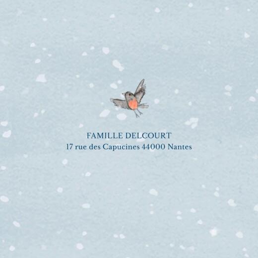 Faire-part de naissance Conte d'hiver (triptyque) bleu