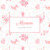 Faire-part de naissance Fleurs des champs (triptyque) rose - Page 1