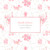 Faire-part de naissance Fleurs des champs (triptyque) rose