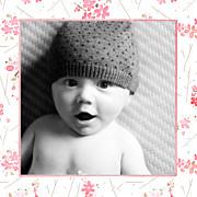 Faire-part de naissance Fleurs des champs (triptyque) rose page 4