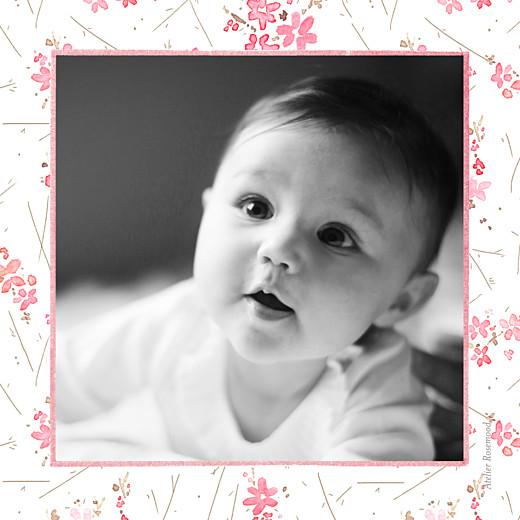 Faire-part de naissance Fleurs des champs (triptyque) rose - Page 6