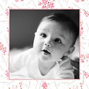 Faire-part de naissance Fleurs des champs (triptyque) rose page 6
