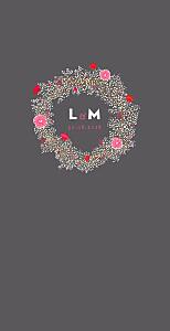 Menu de mariage Couronne de fleurs gris & rose