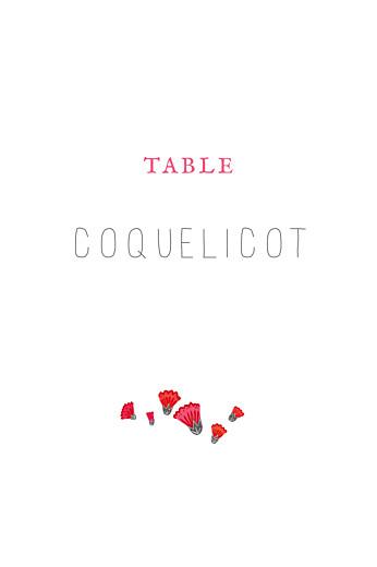 Marque-table mariage Couronne de fleurs gris & rose