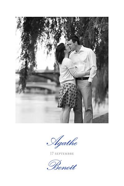 Carton d'invitation mariage Tout simplement blanc finition
