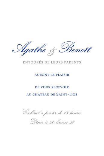 Carton d'invitation mariage Tout simplement blanc