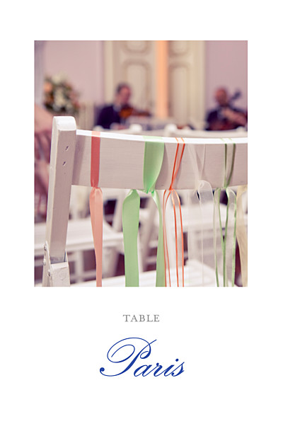 Marque-table mariage Tout simplement blanc finition