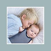 Faire-part de naissance Jeux enfants à 2 (triptyque) gris garçon garçon page 4