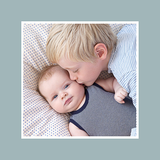 Faire-part de naissance Jeux enfants à 2 (triptyque) gris garçon garçon