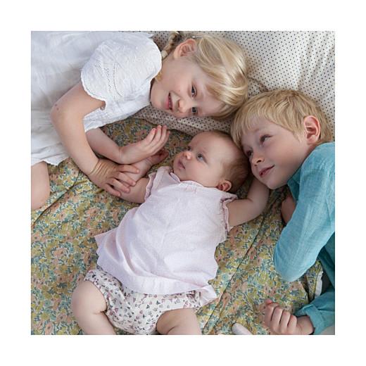 Faire-part de naissance Jeux enfants à 3 (triptyque) rose garçon fille