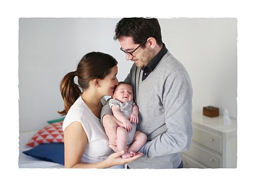 Faire-part de naissance Balade 3 enfants (triptyque) blanc