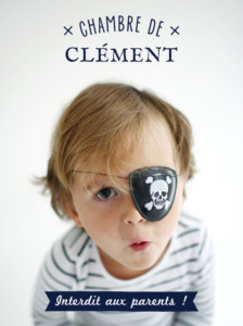 Affiche Interdit aux parents ! bleu nuit