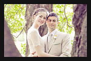 Carte de remerciement mariage Souvenir 1 photo (paysage) noir