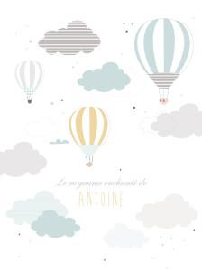 Affiche Dans le ciel bleu
