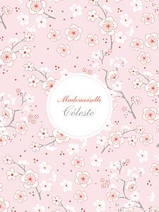 Affiche rose cerisiers en fleurs rose