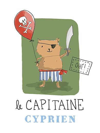 Affichette Pirate vert - Page 1