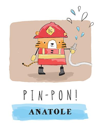 Affichette Pompier rouge - Page 1