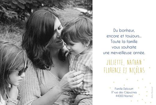 Carte de voeux Lovely year bleu & mordoré - Page 2