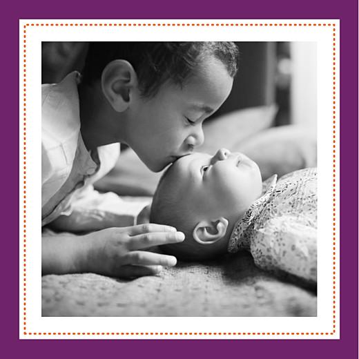 Faire-part de naissance Batik (2 photos) violet - Page 2