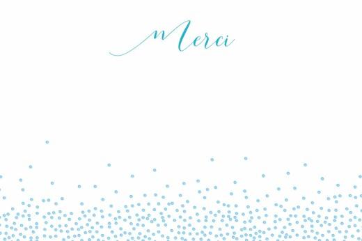 Carte de remerciement Merci éveil photo bleu