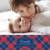 Faire-part de naissance Écossais photo bleu & rouge - Page 1