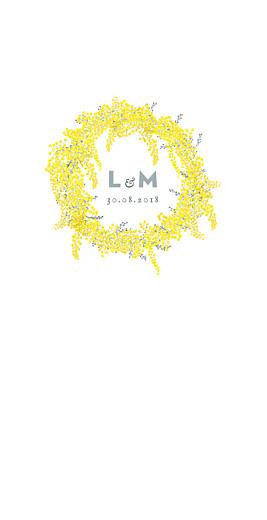Menu de mariage Mimosa jaune