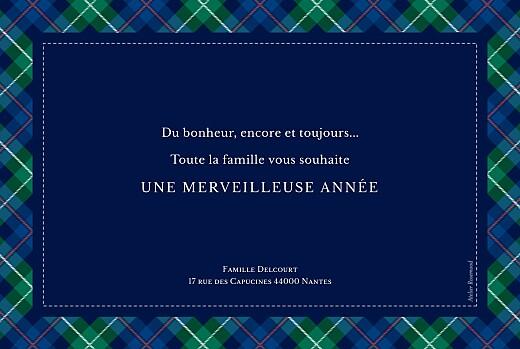 Carte de voeux Écossais bleu & vert