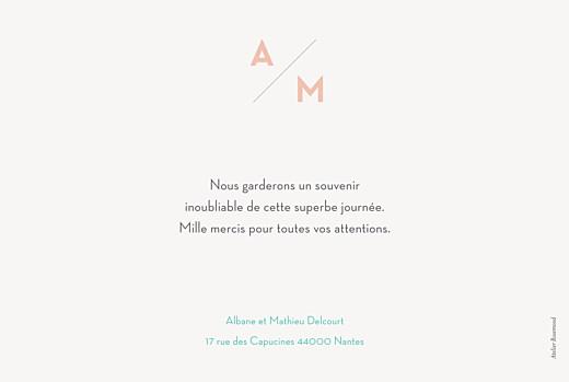 Carte de remerciement mariage Graphique paysage orange et turquoise - Page 2