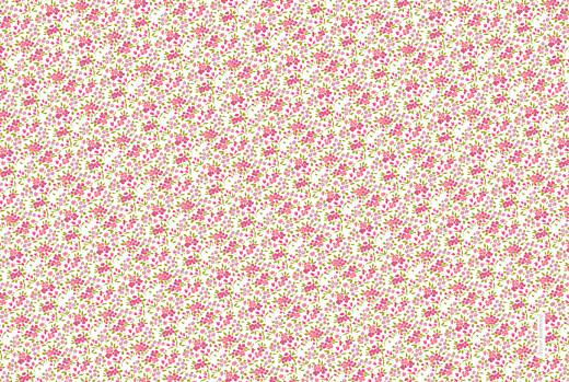 Faire-part de naissance Liberty liseré triplés rose