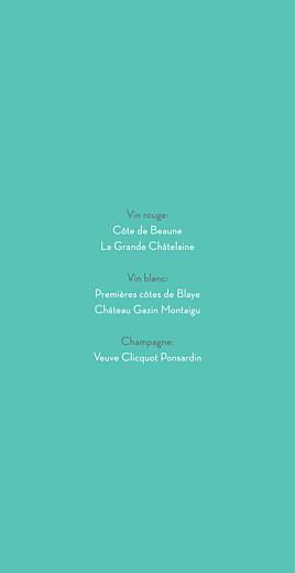 Menu de mariage Graphique (4 pages) orange et turquoise - Page 2