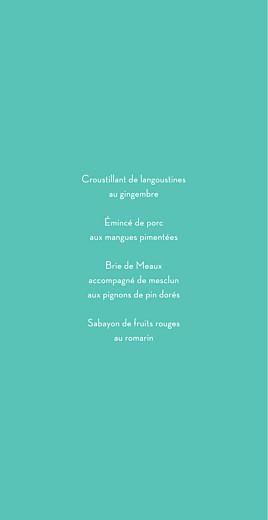 Menu de mariage Graphique (4 pages) orange et turquoise - Page 3