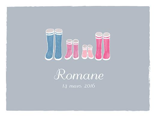 Affiche Balade (2 enfants) gris & rose