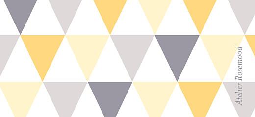 Etiquette de baptême Triangles jaune taupe - Page 2