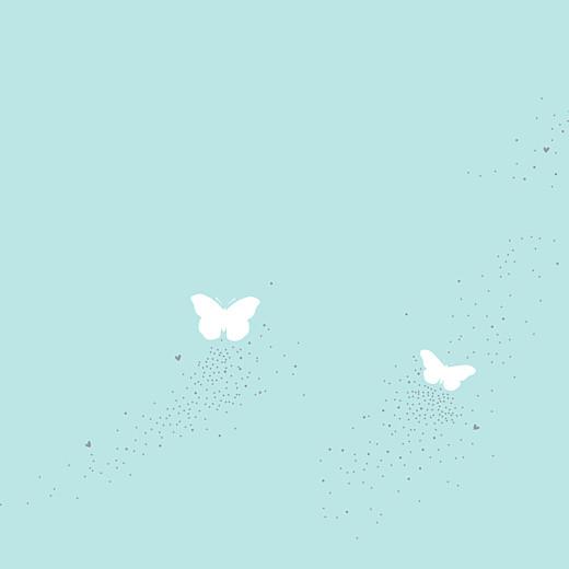 Faire-part de mariage Papillons (carré) blanc et bleu - Page 2